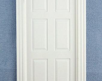 Melody Jane Dolls House White Plastic 6 Panel Interior Door Builders DIY 1:24 Scale
