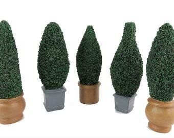 Dolls House Flat Back Topiary Bush Tree in Pot Miniature 1:12 Garden Accessory