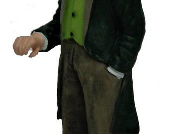 Dolls House People Smart Victorian Gentleman Miniature Resin Figure