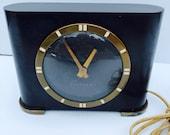 Rare, Antique, Circa 1940, Art Deco, Ben Franklin, Bakelite, Wexclox Model S4-50, Electric Clock