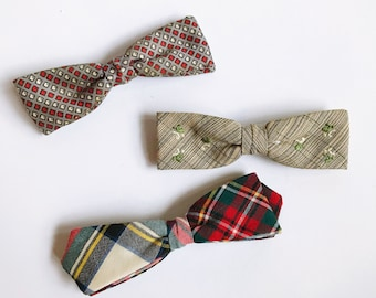 Mixed Lot of Vintage Clip-On Bow Ties  Vintage Style  70s Bow Tie  Ormond NYC  Wembeley