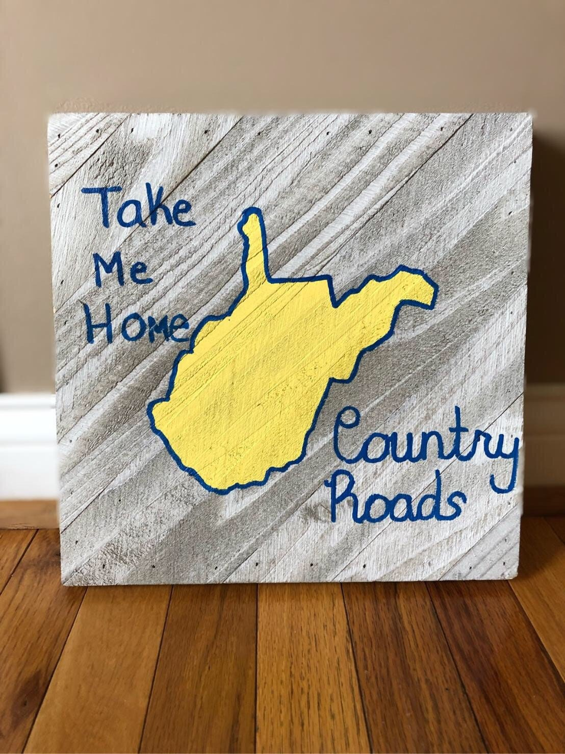 Take me home country roads wooden wall sign wall decor WVU | Etsy
