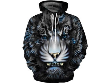 f24a3b536f2 Creative Colorful Lion King Paint All Over Print Hoodie | Cool 3D Quality  Sweatshirt | Gift | Adults and Teenagers Unisex | FREE SHIPPING!