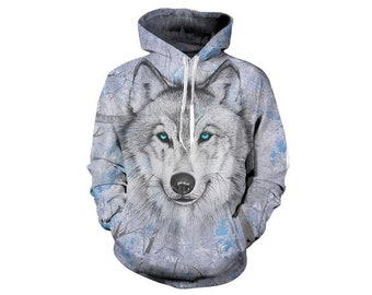 a9b63d69cc Creative Snow White Wolf Paint All Over Print Hoodie | Cool 3D Quality  Sweatshirt | Gift | Adults and Teenagers Unisex | FREE SHIPPING!