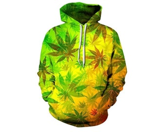 4bc6a66c Creative Weed All Over Print Hoodie | Cool 3D Cannabis Quality Sweatshirt |  Perfect Gift | Adults and Teenagers Unisex | FREE SHIPPING!