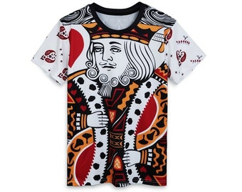 b1f304f4d Creative Cardistry King All Over Print Tshirt | Cool 3D Game Quality T-Shirt  | Gift | Adults and Teenagers Unisex T shirt | FREE SHIPPING