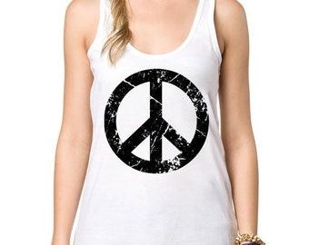 51d3be56c71043 Creative Peace Sign Tank Top