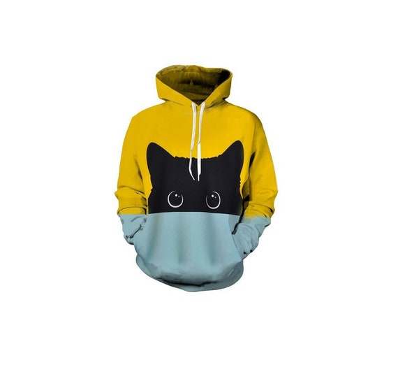 Funny Terrified Cat Faces Awesome 3D Print Unisex Hoodies Sweatshirt
