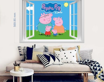 Peppa Wall Decal Etsy