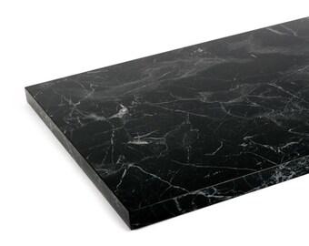 Black, Silk Matt - Marble Shelf