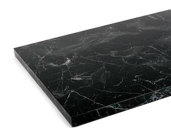 CUSTOM - Black, Silk Matt - Marble Table Top