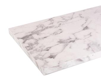 White, Silk Matt - Marble Shelf