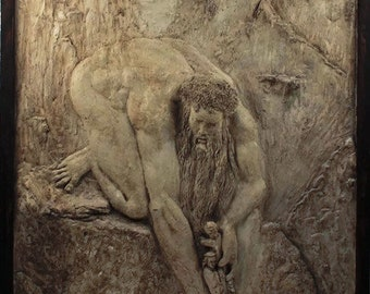 High relief of the divine comedy of Dante