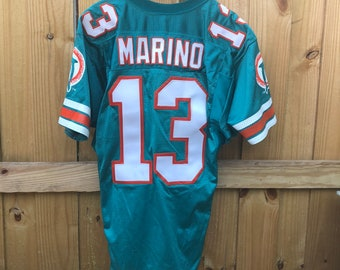 Vintage 1990 s Miami Dolphins NFL Dan Marino Wilson Authentic Jersey Mens 44 4b8f53648ee