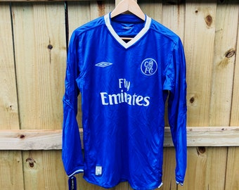 wholesale dealer a0191 436fe New w  Tags Vintage 2001 Chelsea F.C. Umbro Blue Long Sleeve Soccer Jersey  Mens Small