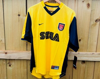 New w  Tags Vintage 1999 Arsenal Gunners SEGA Nike Dri-Fit Soccer Jersey  Mens Large fd4523945