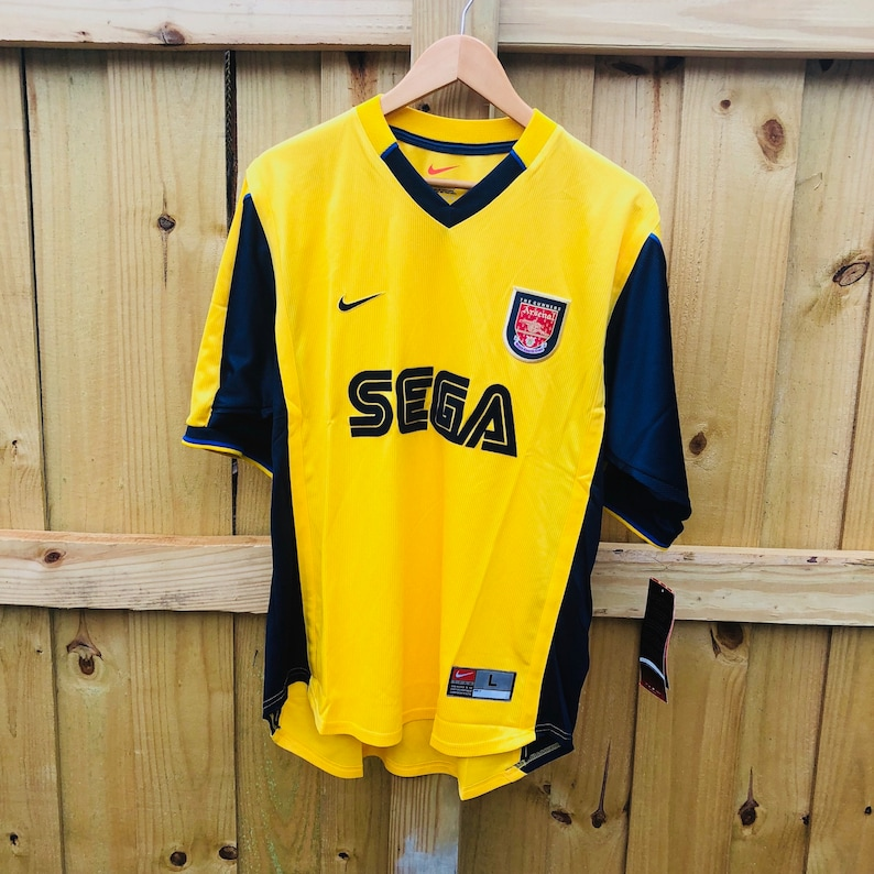 low priced 08bc6 5c527 New w/ Tags Vintage 1999 Arsenal Gunners SEGA Nike Dri-Fit Soccer Jersey  Mens Large