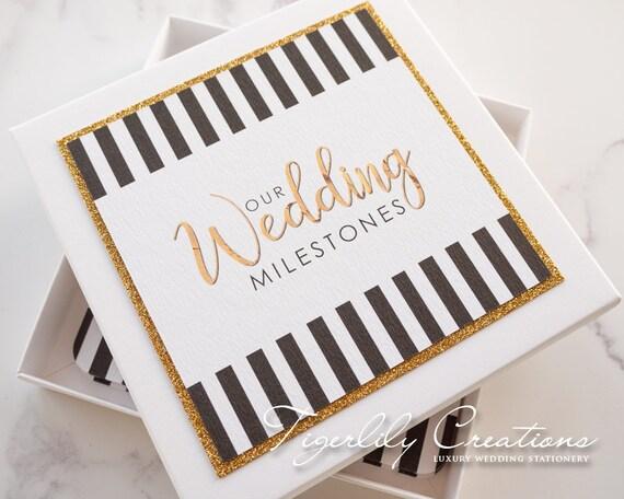 Wedding Milestone Cards Engagement Gift Bride To Be Gift Etsy
