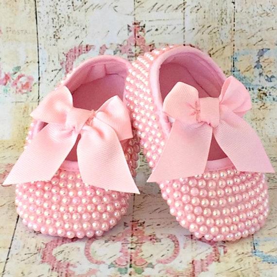 Handmade Baby Girl Christening Shoes