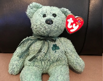 "Retired ""Shamrock"" 2000 Ty Beanie Baby Mint Condition w/ Swing & Tush Tags"