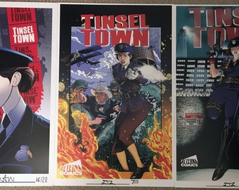 3 Tinseltown Limited Edition Prints & Brigade Poster signed and numbered