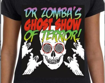 Women's Doctor Zomba's Ghost Show of Terror! T-Shirt