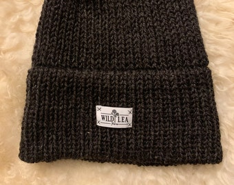 Handmade knit wool hat