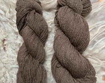 Moorit Romney & Icelandic wool yarn