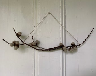 Acorn branch wall hanging