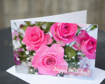 A6 Birthday Card Printed on Recycled Card