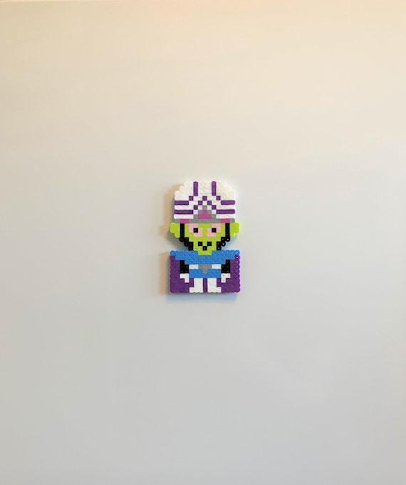 Zygon Perler bead magnet