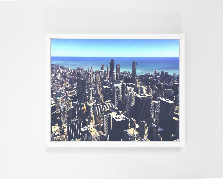 nice City Wall Art Part - 10: Chicago Art Print City Wall Art City Digital Print Digital | Etsy