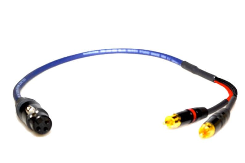 Van Damme Cable Professional Studio Y Splitter Interconnect Lead 3-Pin XLR Female to 2xRCAPhono Unbalanced