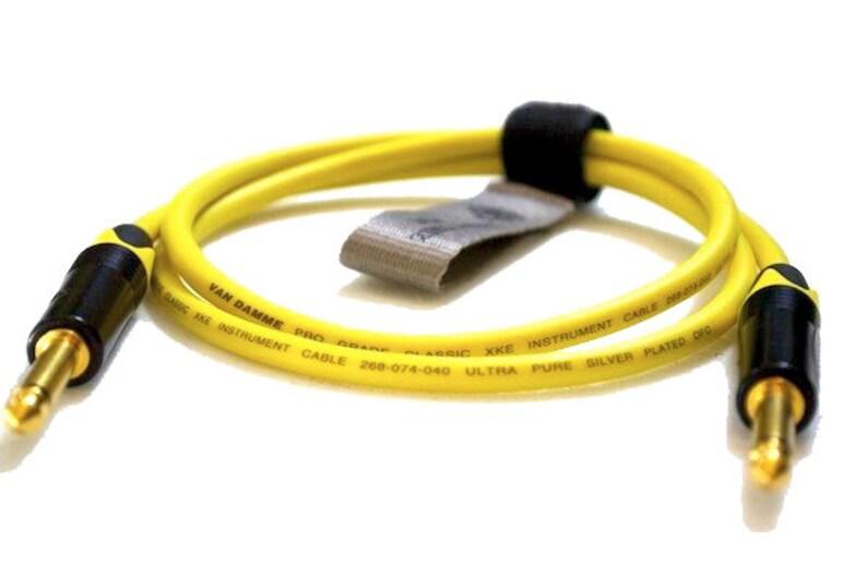 Professional Instrument lead 14 Mono Jack 6.35mm TS to 14 Mono Jack 6.35mm TS Van Damme Cable Unbalanced