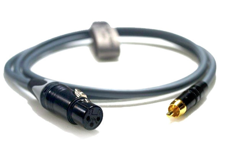Professional Microphone Lead 3-Pin XLR Female to RCAPhono Van Damme Cable Unbalanced