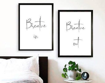 Poster set, breathe in breathe out