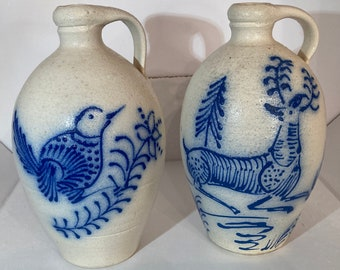 NC pottery...hand thrown pottery bowl...handmade pottery pitcher...hold 3 cups...signed. Vintage Lantern Hill batter bowl...Seagrove