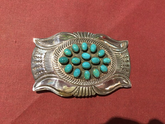 Four-horned Concho Belt Buckle