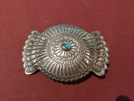Flared Concho Belt Buckle