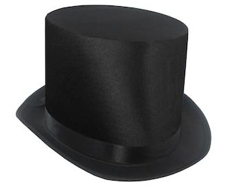 FANCY DRESS ACCESSORY TOP HAT SATIN PINK
