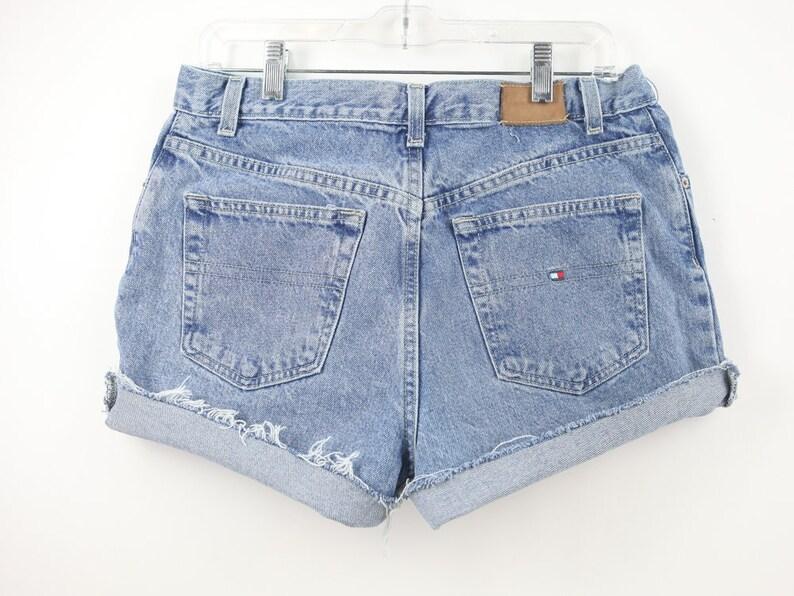 5cd225e368 32 Waist Tommy Hilfiger High Waisted Denim Shorts Jean Shorts | Etsy