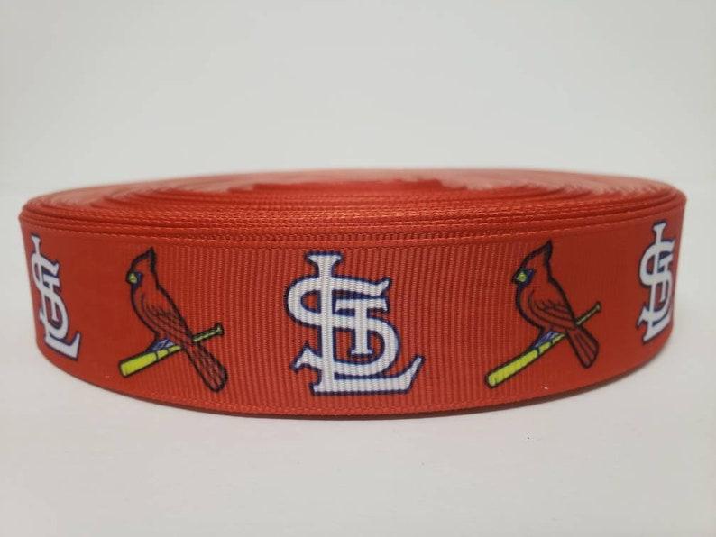 5 Yards of St Louis Cardinals Grosgrain Ribbon-7//8 inch