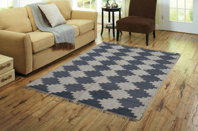 Wool Jute Smart Exclusive Home Decor Bohemian CarpetAccent