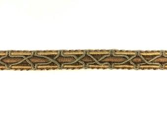 Bronze Color Loop Ruche Decorative Trim 993