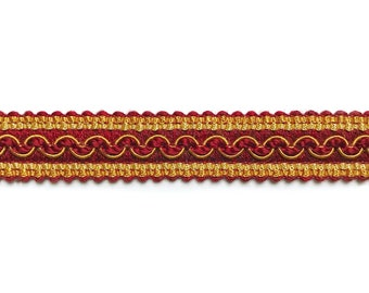 Red Wine High Quality Decorative Gimp Trim by the yard