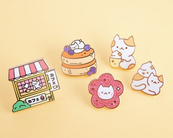 COFFEE CAT SHOP Pins - Full set