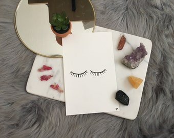 Hand Painted Original Watercolor of Lashes