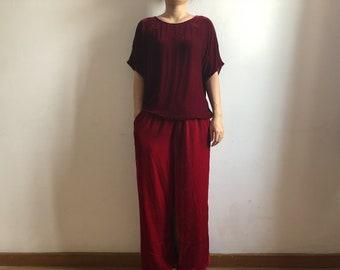 8262f5a2164 Silk velvet tops, silk velvet blouse, silk velvet T shirts,silk velvet  minimal pullover tops