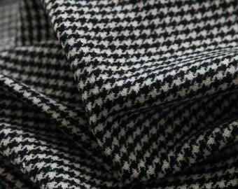 Italian fabric houndstooth wool fabric by the yard