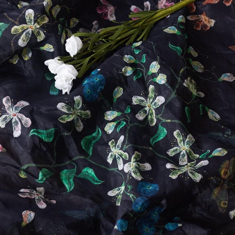 Print silk cotton fabric by the yard